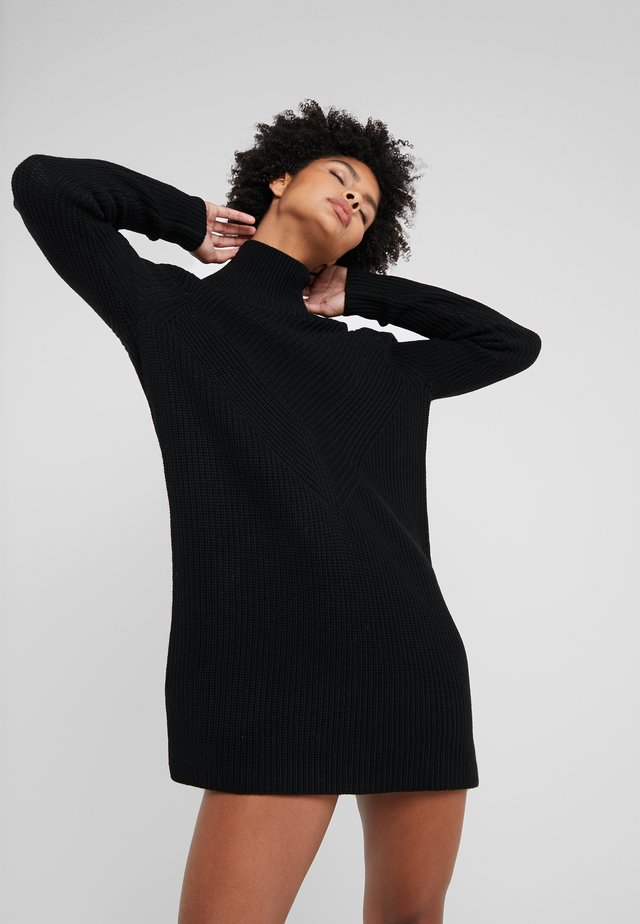 DRESS - Strickkleid - black
