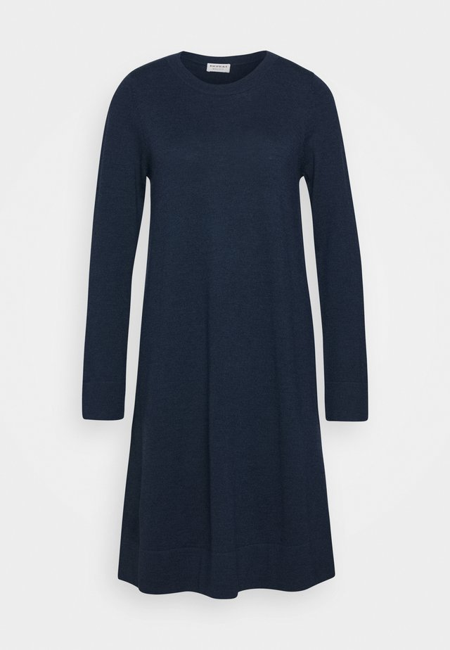CREW NECK DRESS - Strickkleid - dark blue