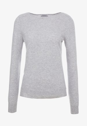Stickad tröja - silver/grey