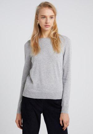 Strikkegenser - silver/grey