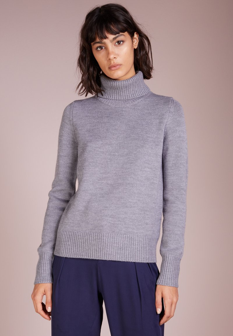 Repeat - ROLL NECK - Strickpullover - grey