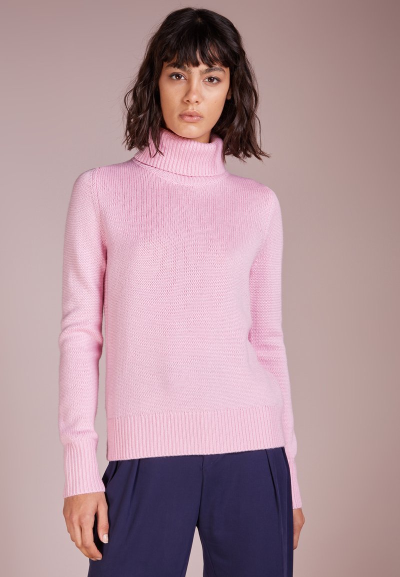 Repeat - ROLL NECK - Strickpullover - rose