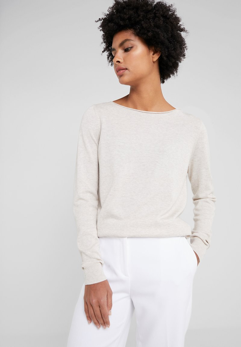 Repeat - Jumper - beige melange