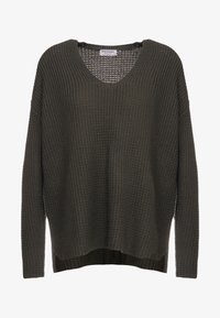Repeat - LOOSE NECK - Strickpullover - leaves - 4