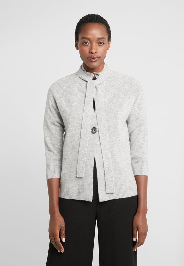 Strickjacke - silver grey