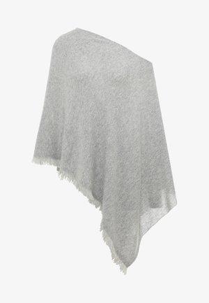 PLAIN PONCHO - Viitta - lt grey