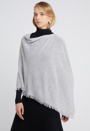 PLAIN PONCHO - Poncho - grey