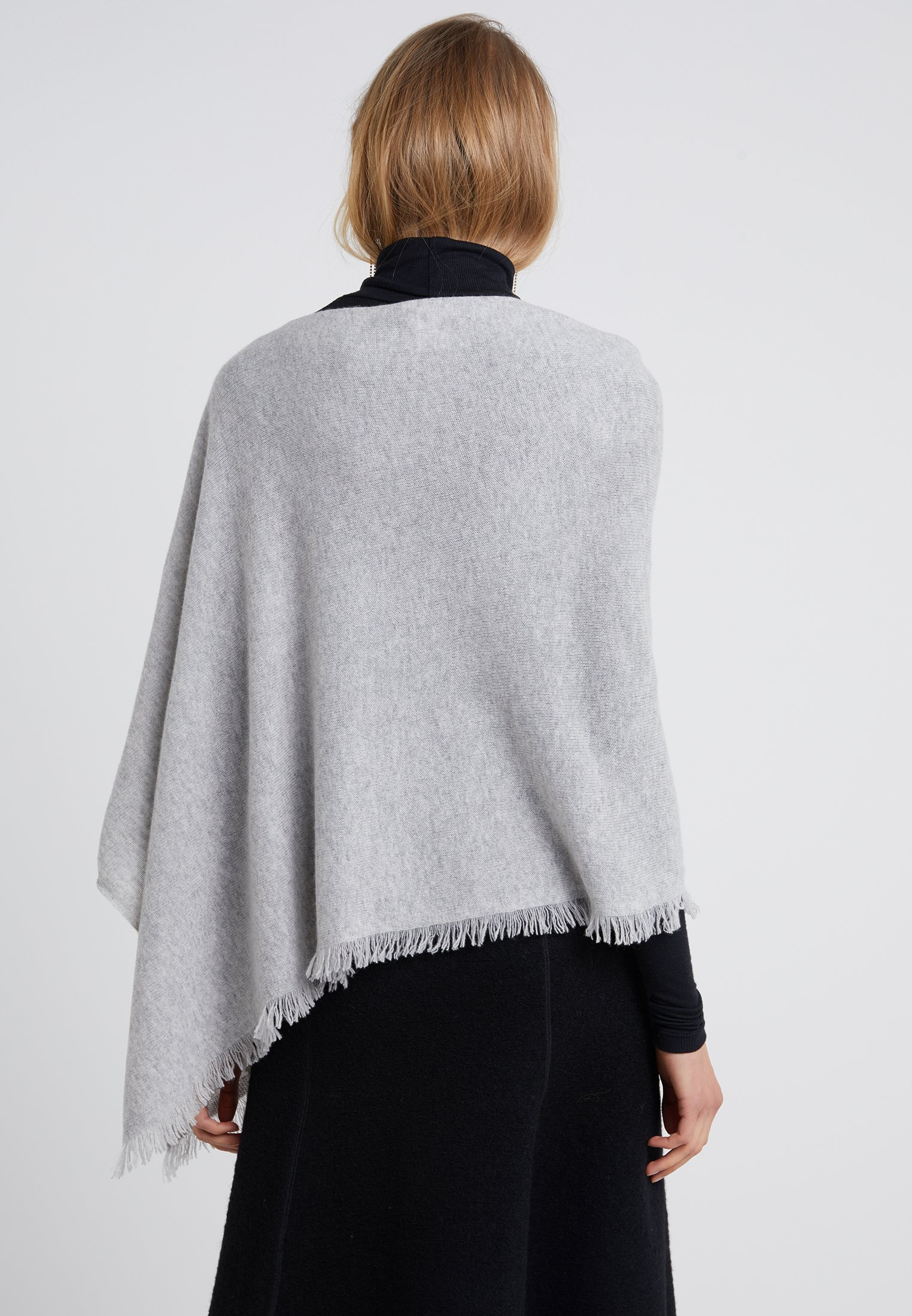 Repeat PLAIN PONCHO - Cape - grey