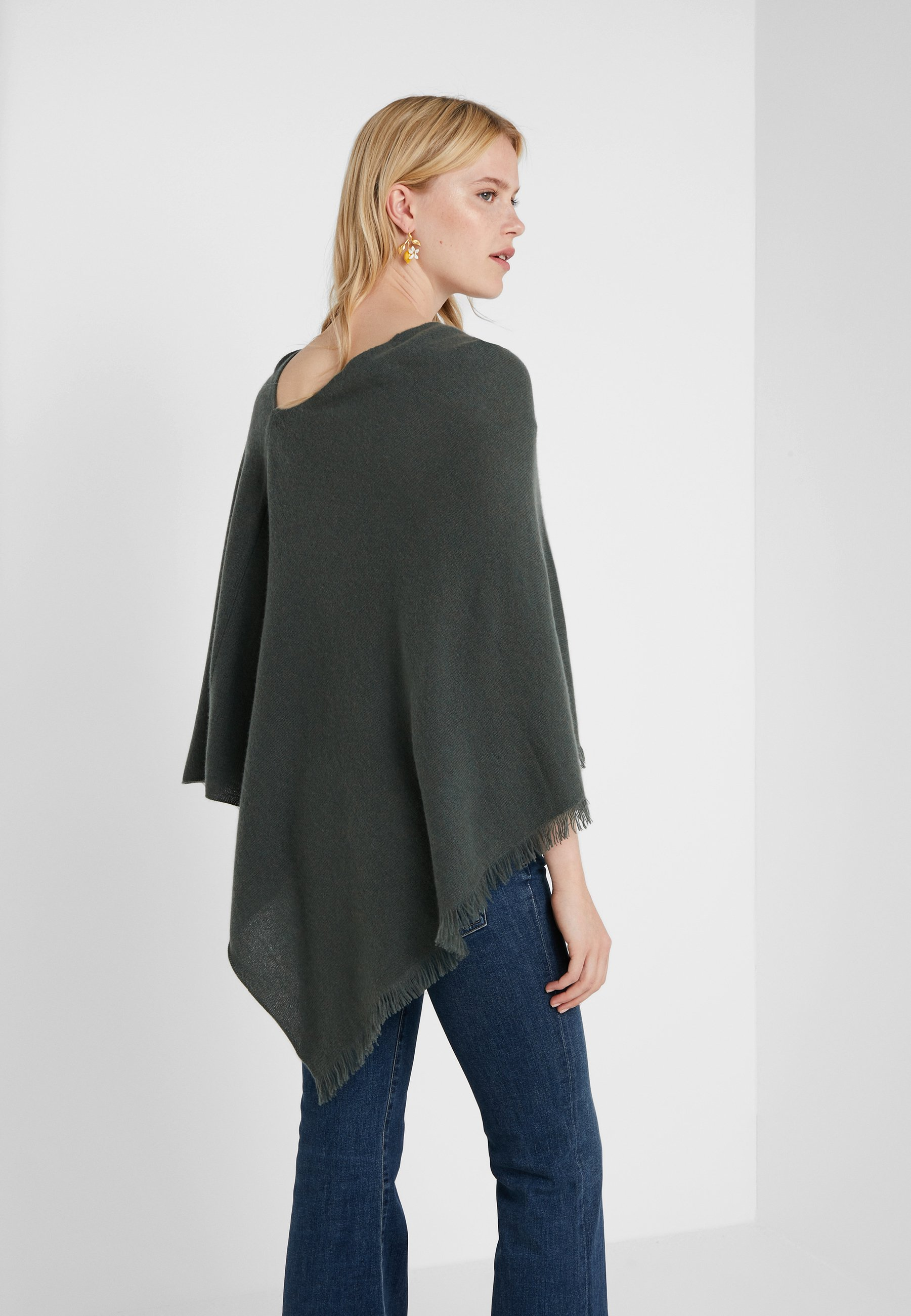 Repeat Plain Poncho - Cape Khaki