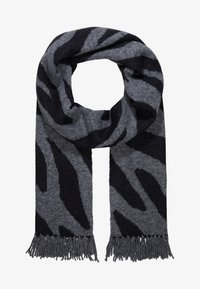 Repeat - SCARF - Szal - grey/black - 1