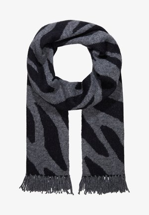 SCARF - Sjaal - grey/black