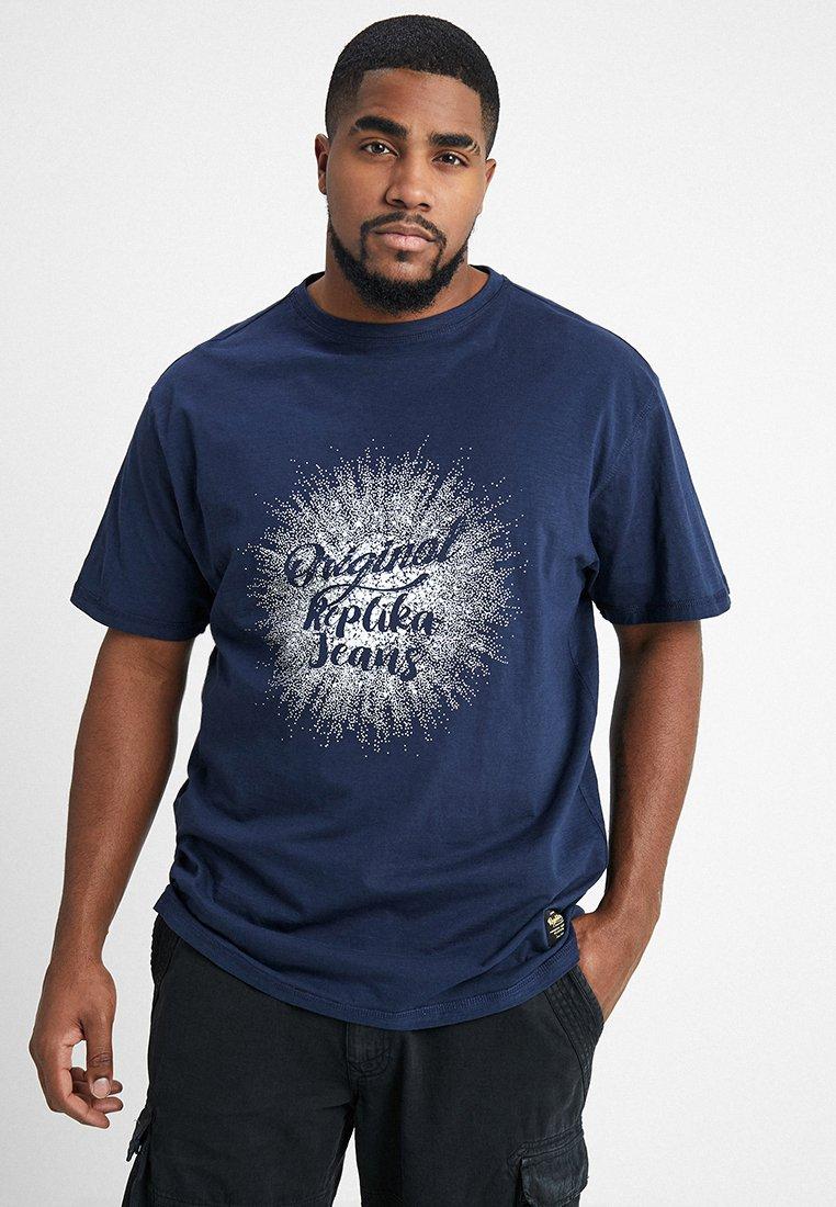 Replika - Print T-shirt - dunkelblau