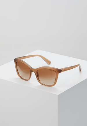 Sonnenbrille - transparent caramel
