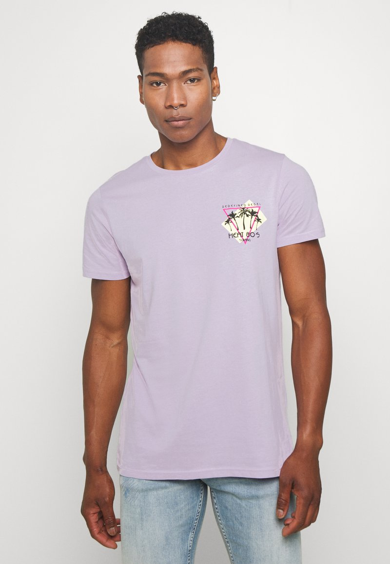 Redefined Rebel - CONNER TEE - Print T-shirt - pastel lilac