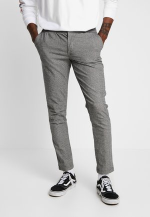 KING PANTS - Kangashousut - grey check