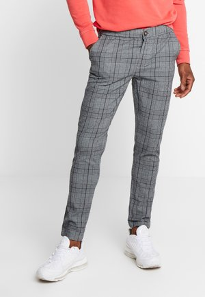 KING PANTS - Broek - charcoal check