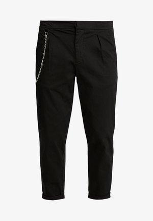 LEE CROPPED PANTS - Tygbyxor - black