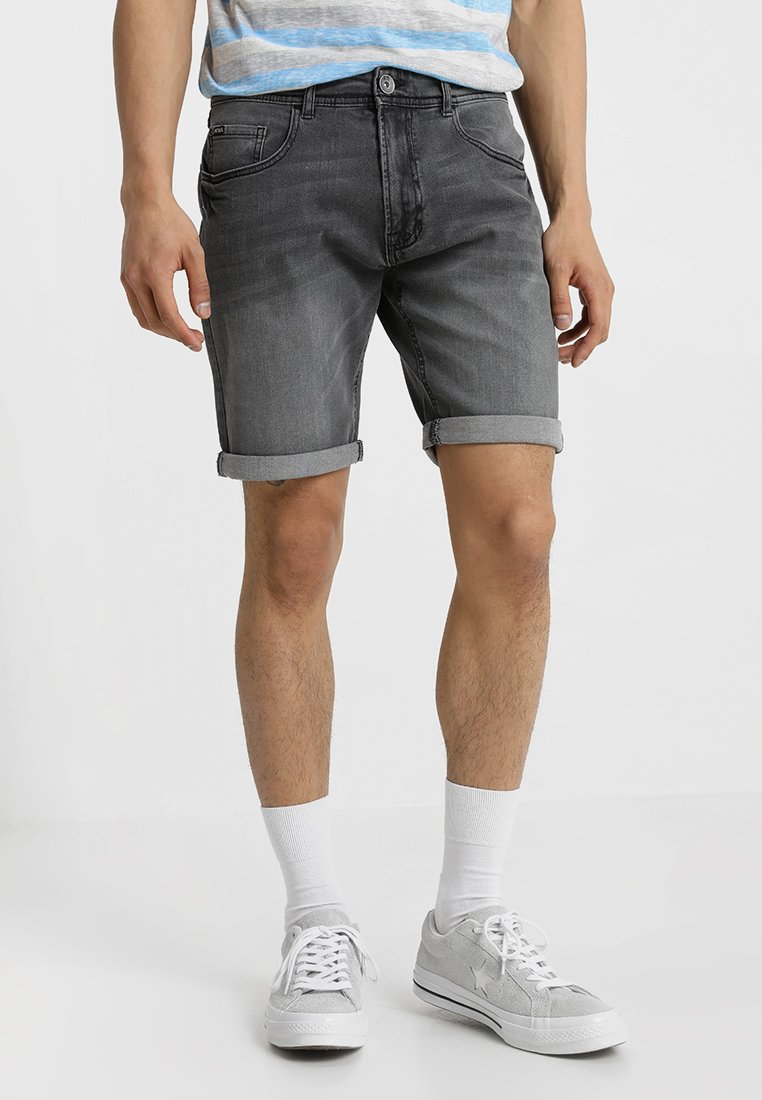 Redefined Rebel - COPENHAGEN - Denim shorts - light grey melange