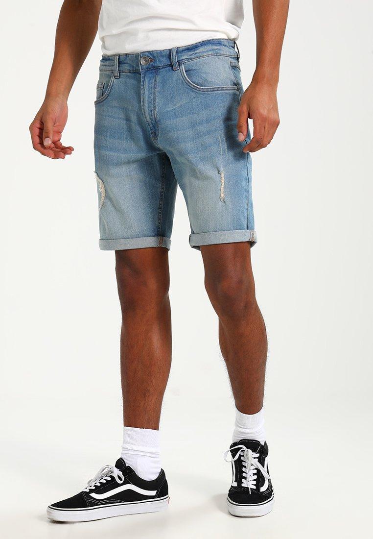 Redefined Rebel - OSLO DESTROY  - Denim shorts - skyway blue