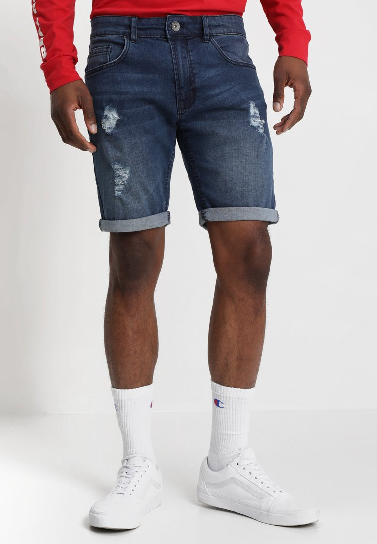 Redefined Rebel - OSLO DESTROY  - Denim shorts - ocean blue