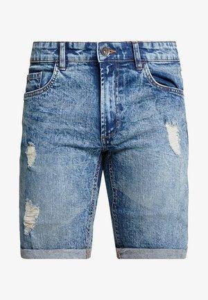 OSLO DESTROY - Shorts di jeans - frozen blue