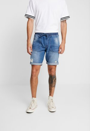 COLOGNE DESTROY - Jeansshorts - light indigo