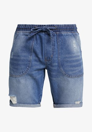 COLOGNE DESTROY - Denim shorts - light indigo
