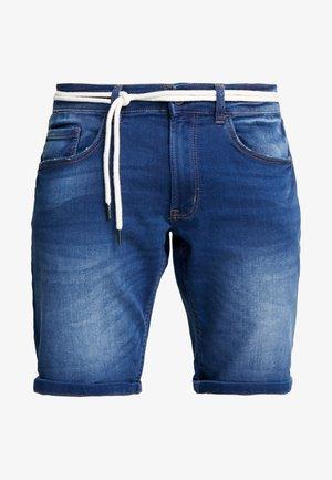 SYDNEY TERRY - Denim shorts - rotos blue