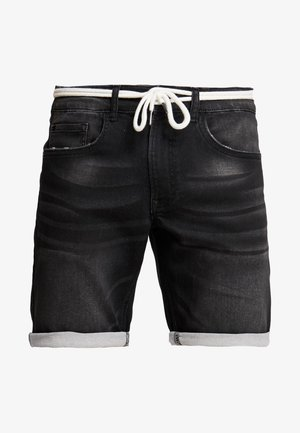 SYDNEY TERRY - Jeans Shorts - marble black