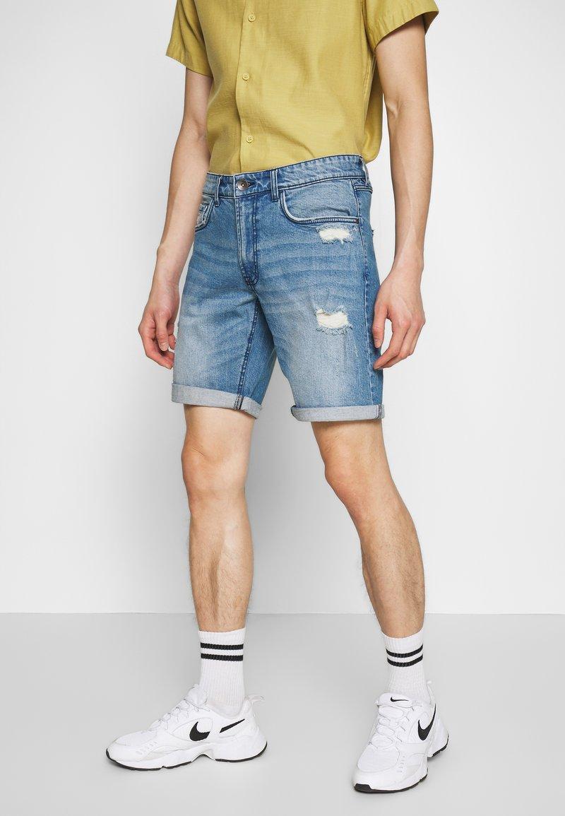 Redefined Rebel - DESTROY  - Denim shorts - soft blue