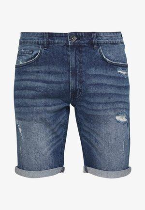 OSLO - Denim shorts - hard blue
