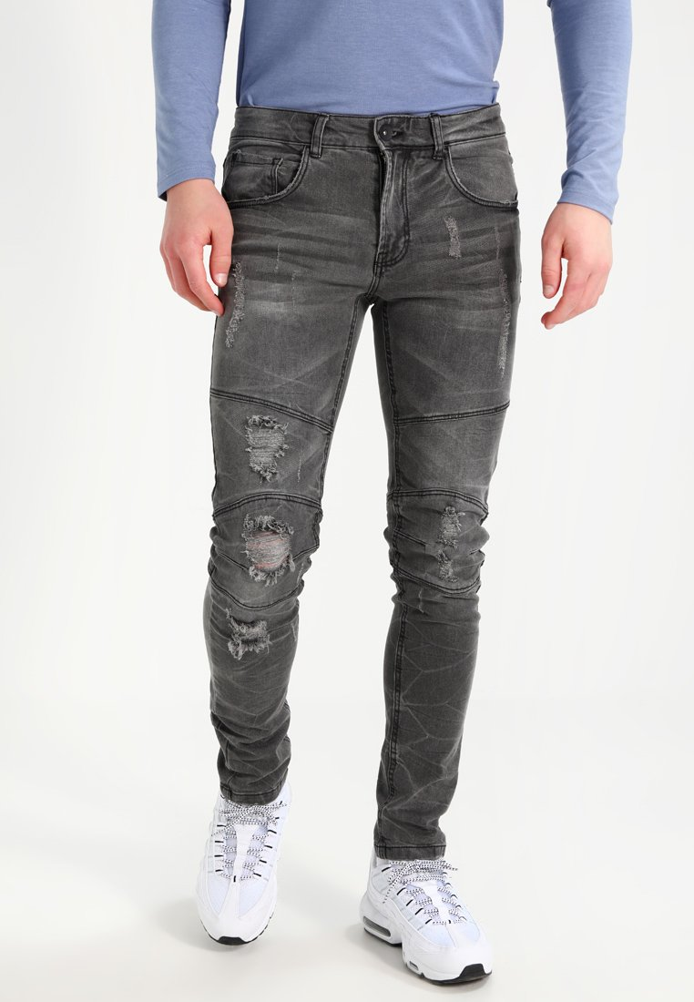 Redefined Rebel - STOCKHOLM WORKER - Jeans Skinny Fit - black/grey