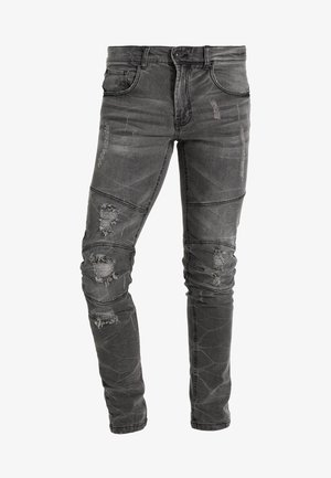 STOCKHOLM WORKER - Skinny-Farkut - black/grey