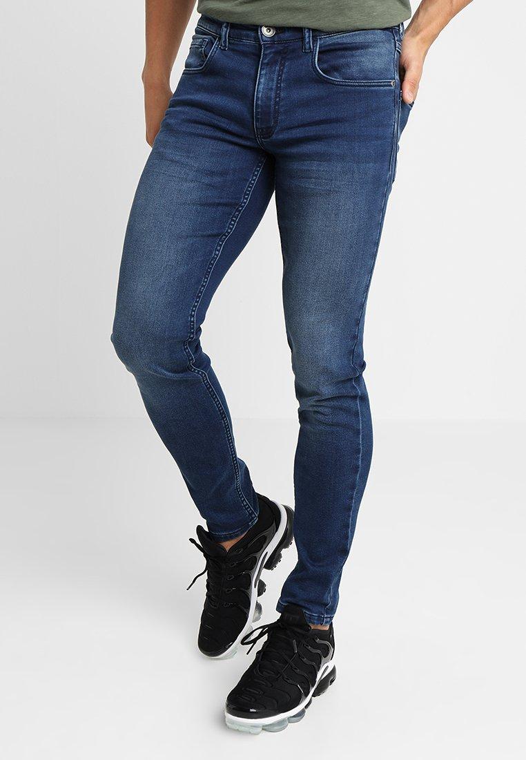 Redefined Rebel - STOCKHOLM TERRY - Jeans Skinny Fit - dark blue