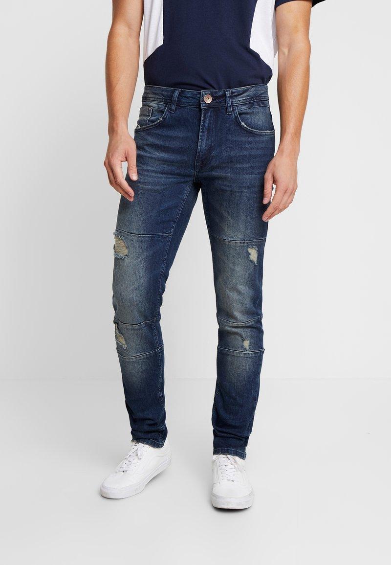 Redefined Rebel - STOCKHOLM  - Slim fit jeans - malgony blue