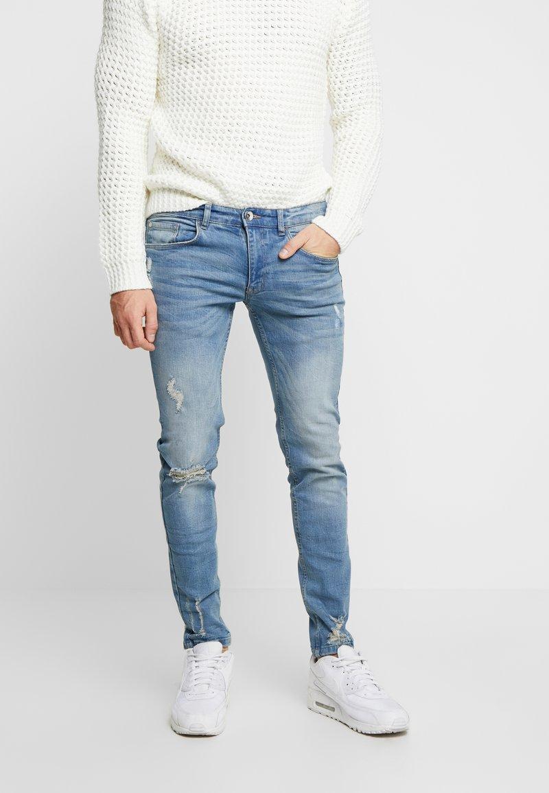 Redefined Rebel - STOCKHOLM DESTROY - Slim fit jeans - arctic blue