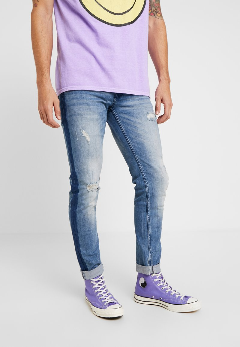 Redefined Rebel - STOCKHOLM DESTROY - Slim fit jeans - blue denim