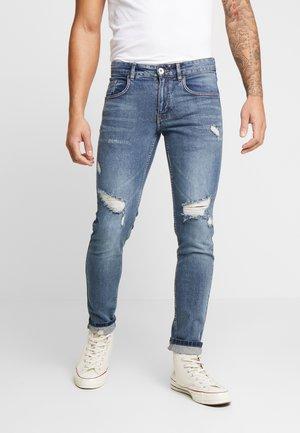 RRSTOCKHOLM DESTROY - Jeans Skinny Fit - penny blue