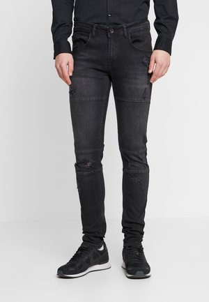 STOCKHOLM CUT DESTROY - Skinny džíny - black