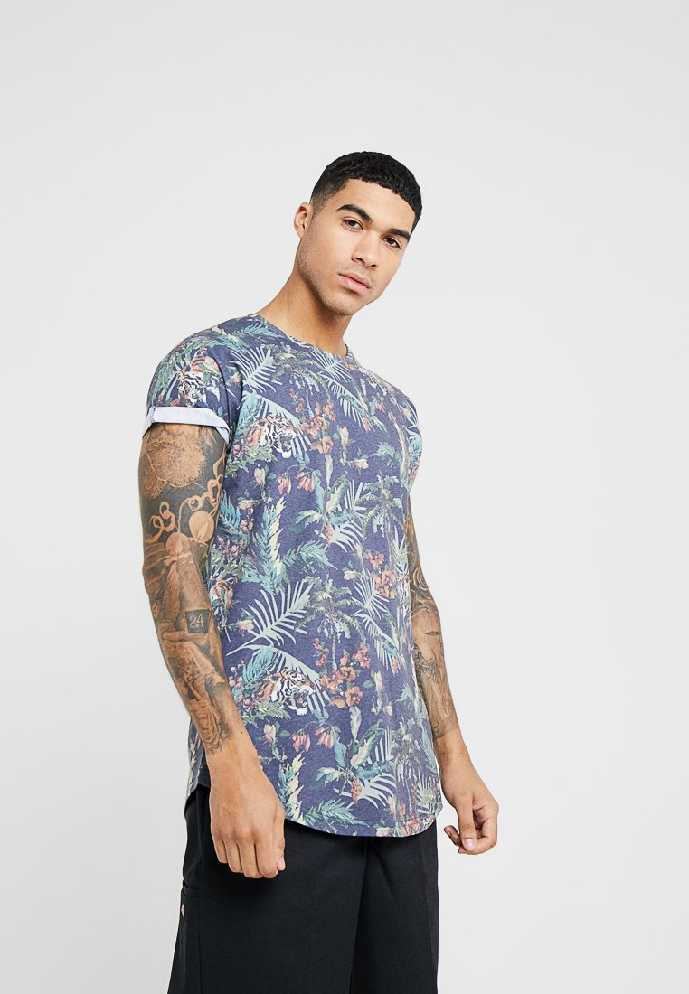Redefined Rebel - COLE TEE - Print T-shirt - navy