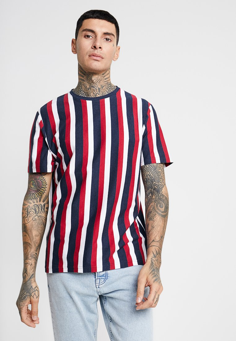 Redefined Rebel - FABIAN TEE - T-shirt con stampa - brick red
