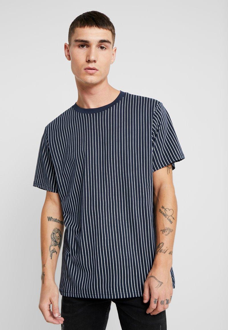 Redefined Rebel - Print T-shirt - navy