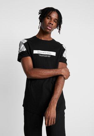 RAFI TEE - T-Shirt print - black
