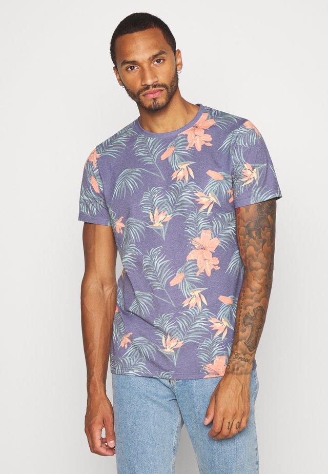 RAUL TEE - T-shirt med print - blue