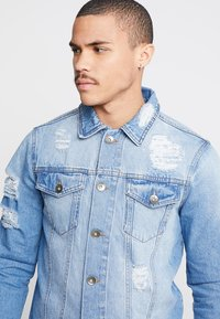 Redefined Rebel - JASON JACKET - Giacca di jeans - light blue - 4
