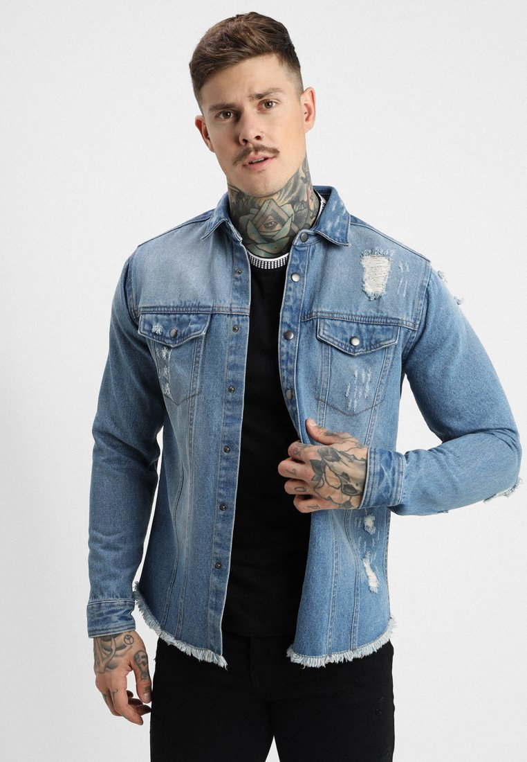 Redefined Rebel - JACKSON JACKET - Camisa - light blue