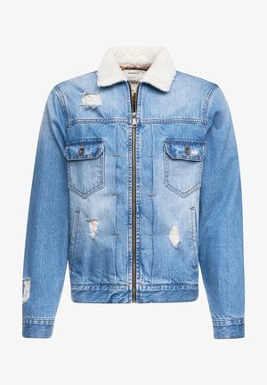 DENNIS JACKET - Džínová bunda - light blue