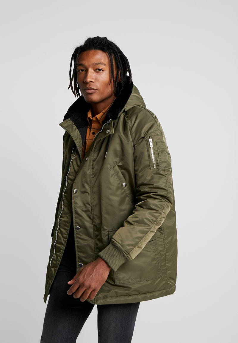 Redefined Rebel - Parka - dark olive