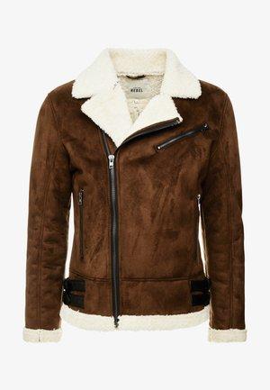 JOKER JACKET - Faux leather jacket - brown