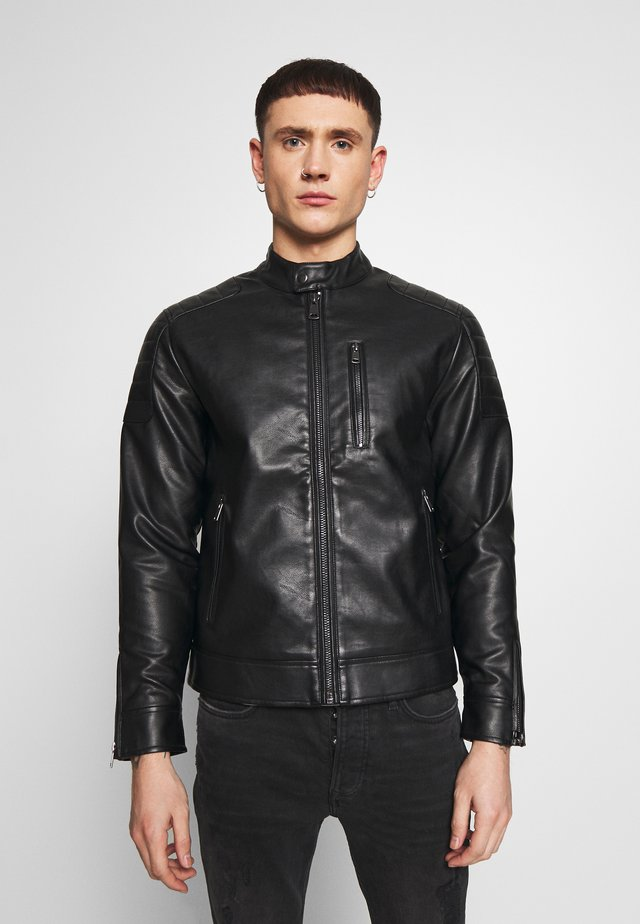 RIVER JACKET - Faux leather jacket - black